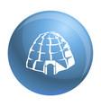 eskimo igloo icon simple style vector image