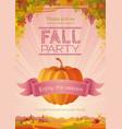 fall party invitation design harvest festival vector image vector image