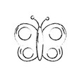 figure beauty butterfly animal with wings vector image