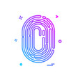 finger print icon design vector image vector image