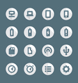 flat style various device icons set vector image vector image