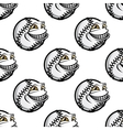 Funny cartoon baseball ball pattern vector image vector image