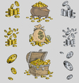 Gold coin treasure vector | Price: 1 Credit (USD $1)