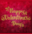 gold glitter lettering happy valentines day on vector image vector image