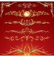 golden ornamental elements vector image vector image