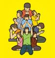 group prayer christian praying together vector image vector image