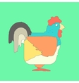Hand drawn flat square icon rooster isolated on vector image vector image