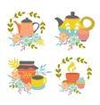 Hand Drawn Tea Time Compositions vector image
