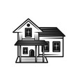 house black icon isolated on white vector image vector image