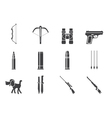 Hunting and arms Icons vector image vector image