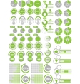 INFOGRAPHICS ELEMENTS 2 GREEN vector image vector image