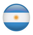 isolated argentina flag vector image vector image