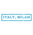 Italy Milan Rubber Stamp vector image vector image