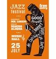 Jazz Music Festival Lettering Silhouette Poster vector image vector image