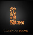 letter l logo gold dots alphabet logotype vector image vector image