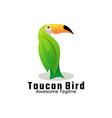 logo toucan bird gradient colorful style vector image