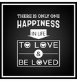 Love Quote Typographical Background vector image