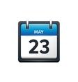 May 23 Calendar icon flat vector image vector image