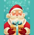merry christmas santa claus card design vector image