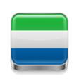 Metal icon of Sierra Leone vector image vector image