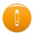 mini usb icon orange vector image vector image