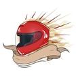 moto helmet integral vector image