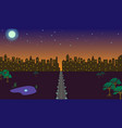 night in city vector image