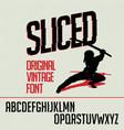 original vintage font poster vector image vector image