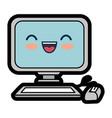 pc cartoon smiley vector image vector image