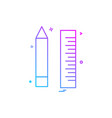 pencil scale icon design vector image