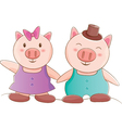 Pig Couple vector image vector image