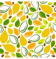 pumpkin seed seamless pattern organic food vector image