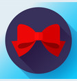 red bow icon flat red bow vector image vector image