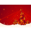 Red Christmas Tree Background vector image vector image
