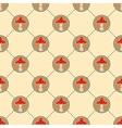 Red mushroom pattern vector image