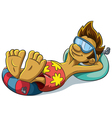 Relaxing Summer Boy vector image vector image
