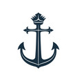 royal anchor icon nautical symbol vector image
