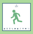 running man run icon vector image vector image