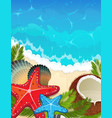 sea tropical background vector image vector image