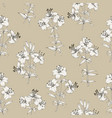 seamless pattern of lily flowers floral vector image vector image