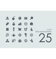 Set of time management icons vector image