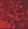shiny polygonal background in cherry red tones vector image vector image
