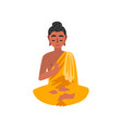 sitting buddha on a white vector image vector image