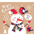 Snowman christmas design vector image vector image
