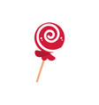spiral lollipop sweet confectionery snack food vector image