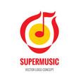 super music - logo template concept vector image