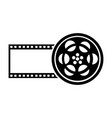 tape reel film icon vector image vector image