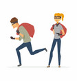 thieves - funny cartoon people characters vector image vector image