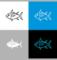 tuna fish icon line style symbol of tuna vector image vector image