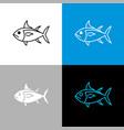 tuna fish icon line style symbol of vector image vector image